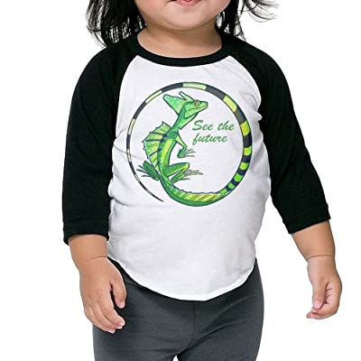 CKND See The Future Baby Kids 100% Cotton Raglan 3/4 Sleeve Baseball T Shirts Tops