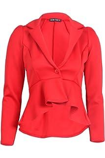55F para mujer de manga larga tribunal mexicano Blazer de tela Mullet chaqueta de hípica para