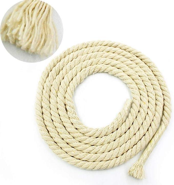 HYZKJ Cuerda 4Mm-20Mm Cuerda De Algodón Beige Cuerdas Gruesas De ...