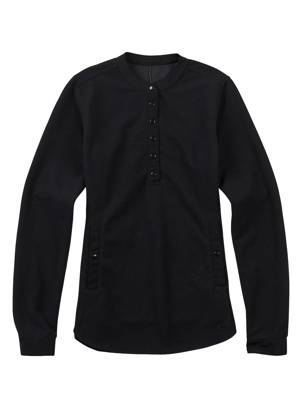 Burton Women's Battell Henley Sweater, True Black, Medium
