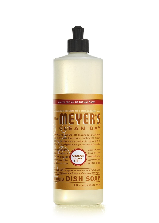 Mrs Meyers Clean Day Liquid, Orange Clove 16.0000 OZ (Pack of 6)