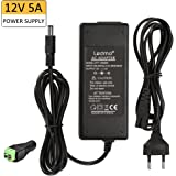 LEDMO Alimentation adaptateur,Transformateurs 12V 5A,Transformateurs Bande 60W Chargeur pour PC Portable, LED Ruban, LCD TFT Monitors, DVD, TVs etc.
