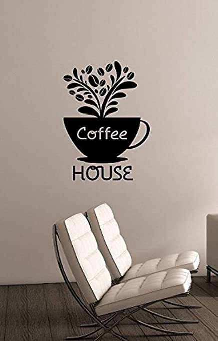 Amazon.com: A Good Decals USA Coffee House Sign Window Decal ...