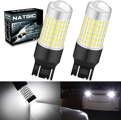 NATGIC 7443 7440 T20 W21/5W Bombillas LED Xenon White 3000LM ...