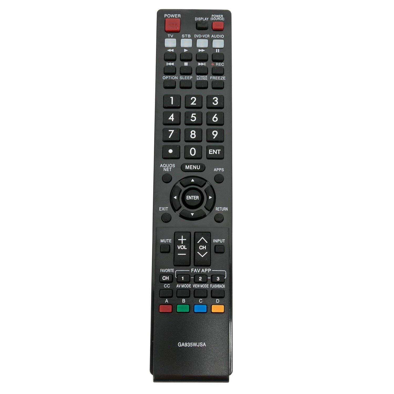 交換用テレビリモコン シャープ AQUOS TV LC-70LE734U LC-40LE830U LC-70LE733U B07JLFQRBB