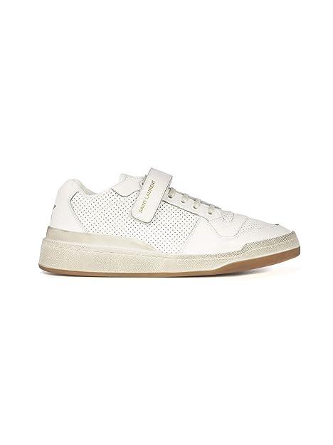 f3b1b96a96 Saint Laurent Sneakers Uomo 55762404L109030 Pelle Bianco: Amazon.it ...