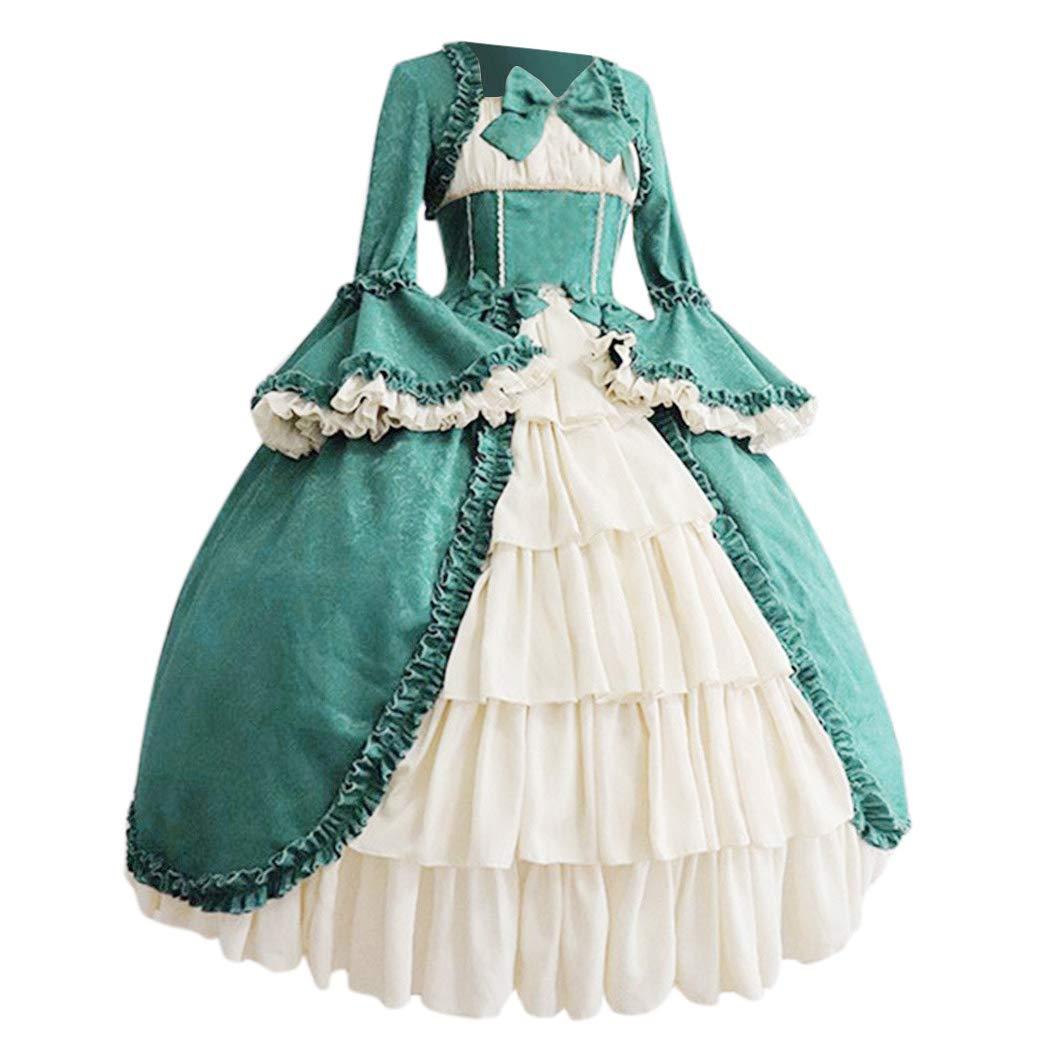 Amazon.com: MoonHome vestido de corte gótico retro medieval ...