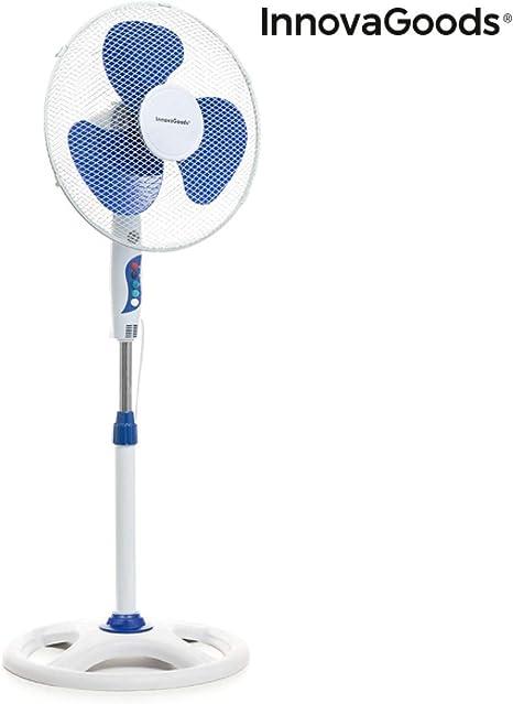InnovaGoods IG814250 Ventilateur sur pied /Ø 40 cm 50 W Blanc Bleu