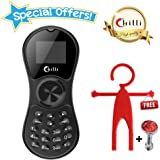 Chilli Spinner Phone World's Slimmest Mobile Phone Cum Spinner Credit Card Sized - Black