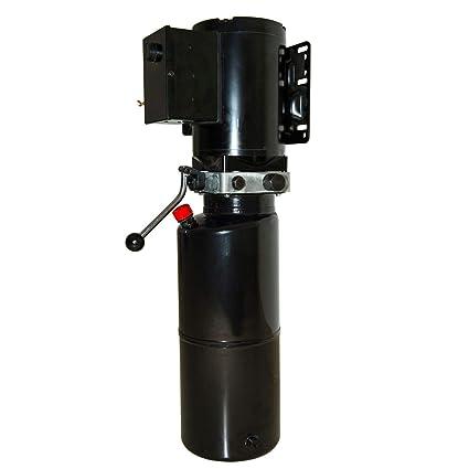 Happybuy Auto Car Lift 3hp 2 64 Gallon Hydraulic Pump Power Unit 220v 60hz Single Phase 2200w 2 2kw Black 10 Liters
