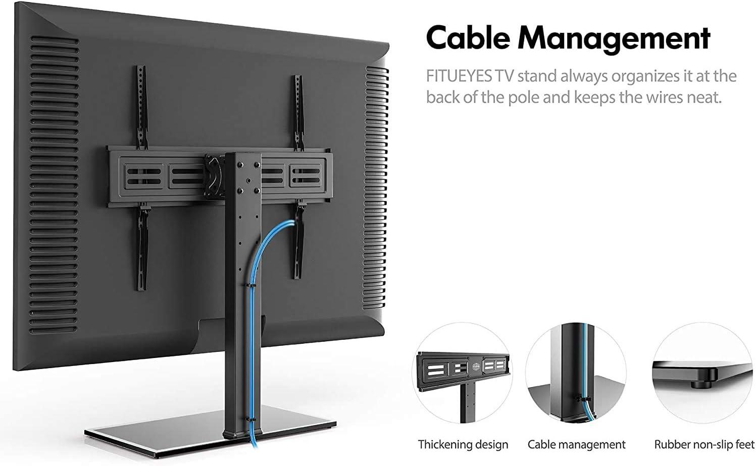 Fitueyes Tt107003gb Tv Stand For 50 To 85 Inch Height Amazon De Elektronik
