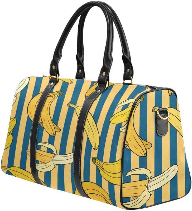 INTERESTPRINT the Colorful Footballs Sport Gym Bag Travel Duffel Bag