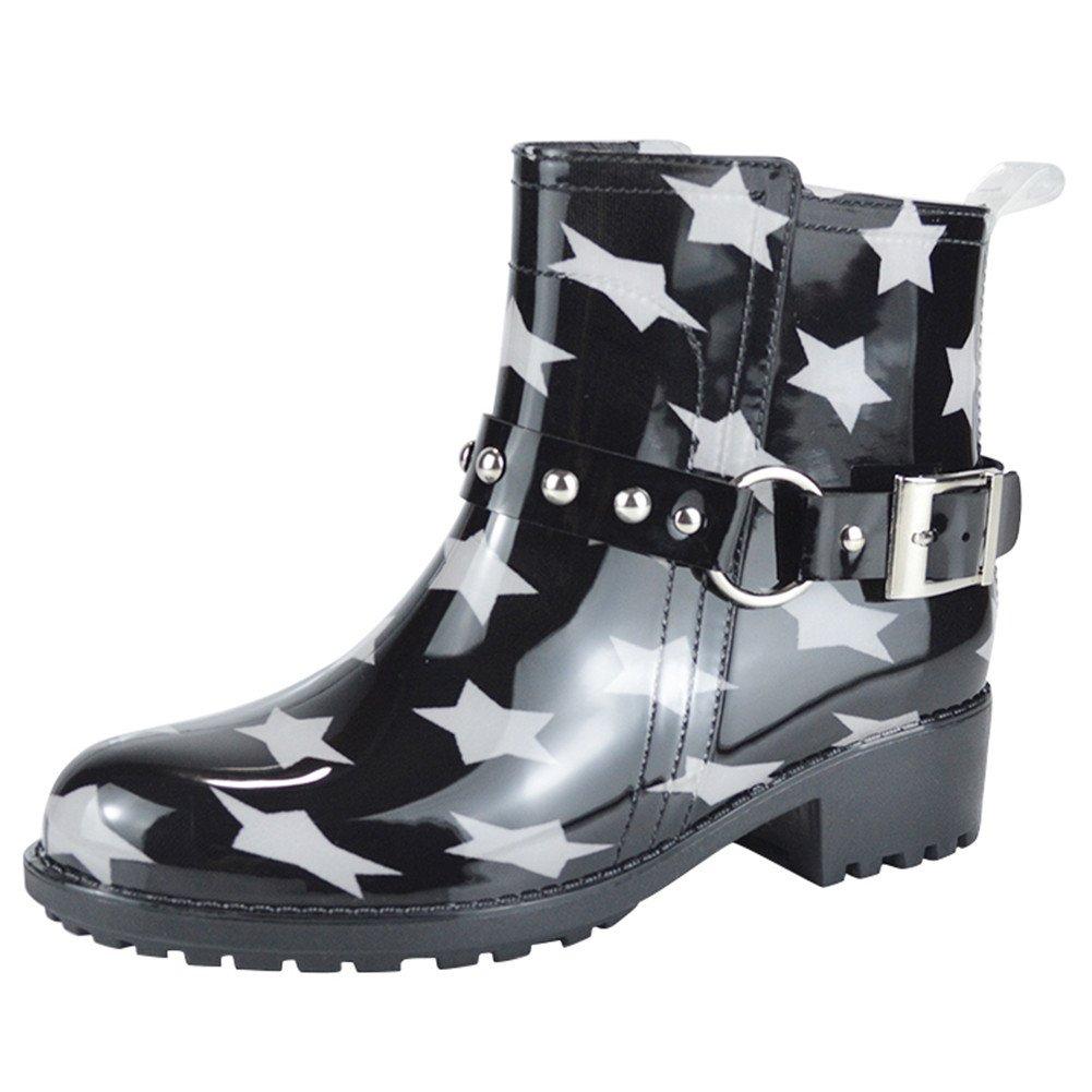 Paragon Bottes de pluie Femmes de Chaussure Mode Bottine Chaussure B076J7WTTB Chelsea Boots bottes caoutchouc imperméables Bleu Foncé-étoile 1281733 - shopssong.space