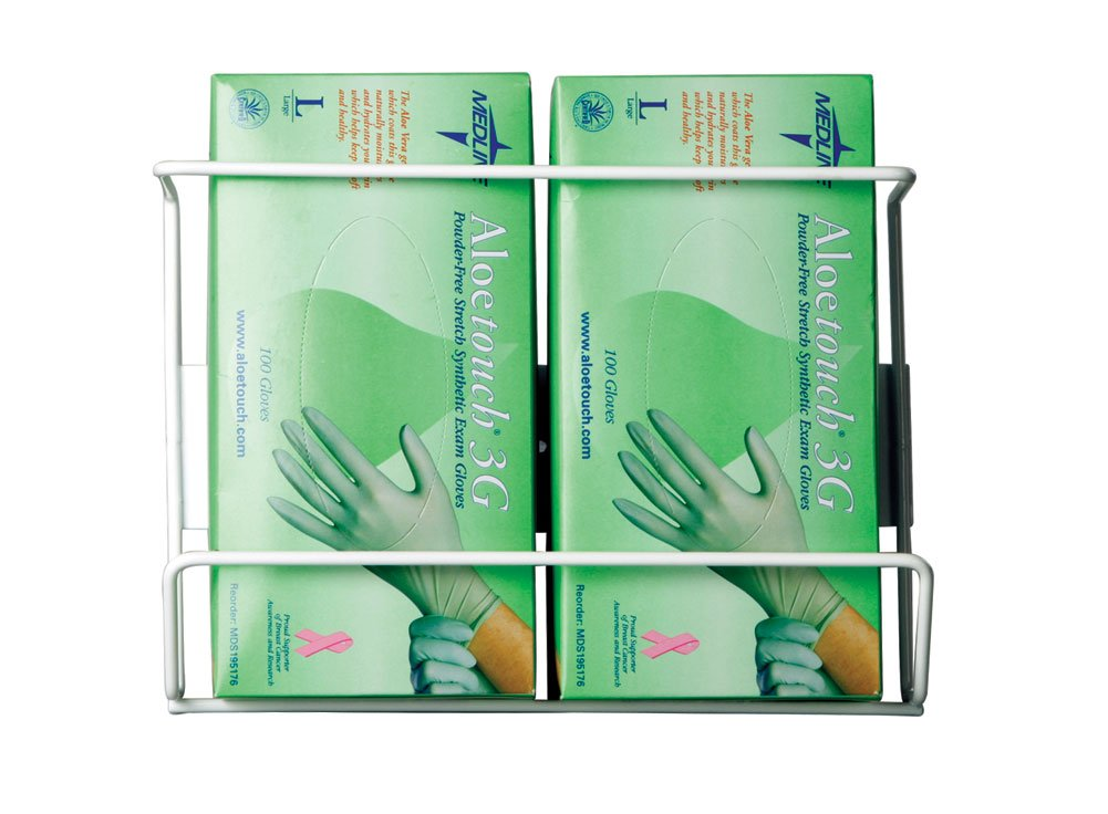 Wire Glove Box Holder, Double, Vertical