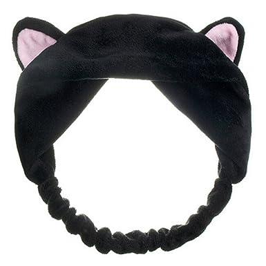 Cute Cat Ears Headband Hair Wear Makeup Shower Face Washing Hairband   Amazon.co.uk  Clothing ab00d7c38b9