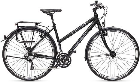 Gudereit SX-90 mujer bicicleta 71.12 cm negro mate 57 cm trekking 30 velocidades-desviador 2015: Amazon.es: Deportes y aire libre