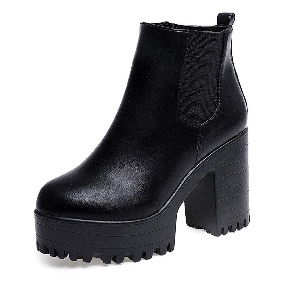 Bottes chaussures et boots Chaussures, Covermason Square haute de bottes B072SWLCB9 femmes talon cuir plates-formes pompe haute cuisse bottes chaussures Black 31d4652 - tbfe.space