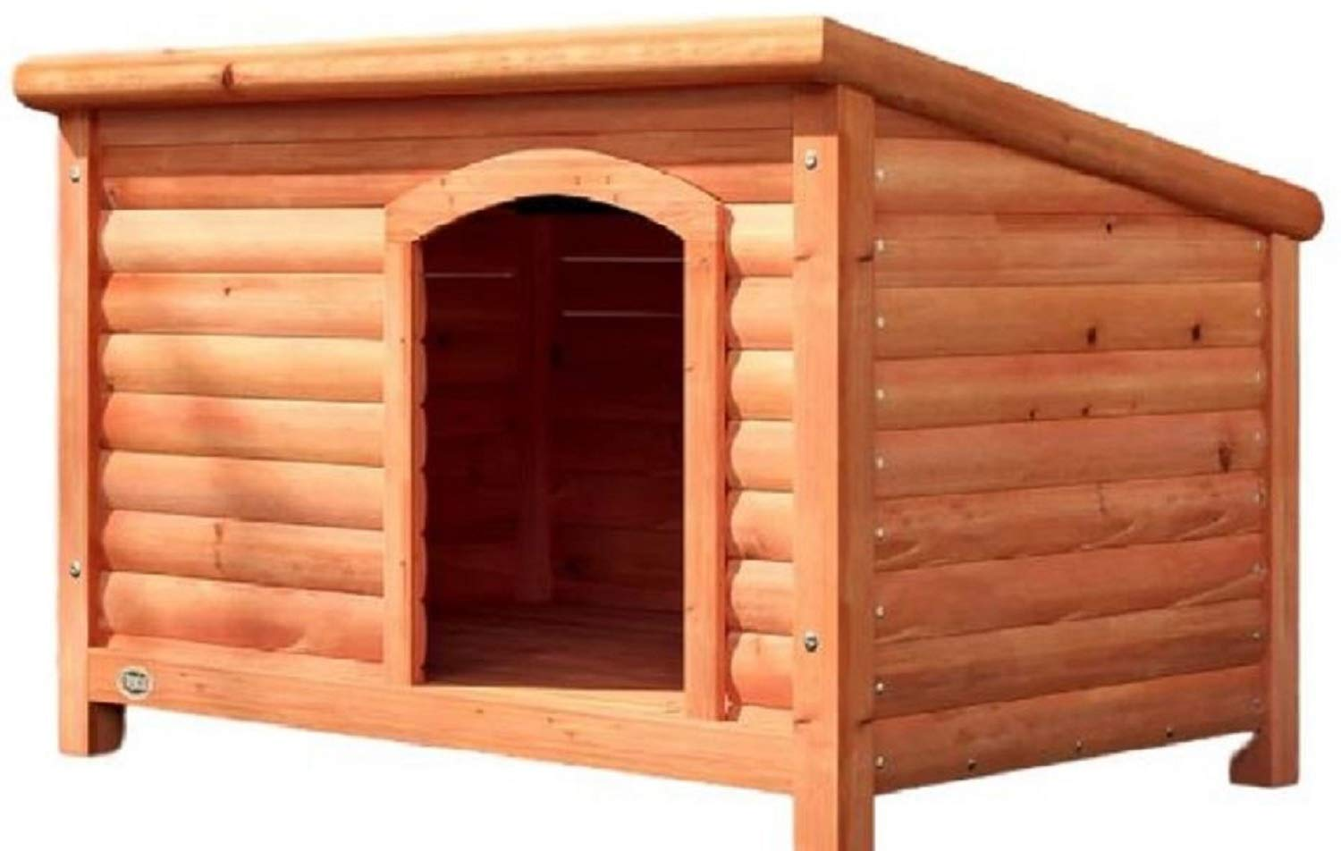 X- Large Dog Wood House. Lucien Club Dog Wood House Weather Resistant with Elevated Floor (X- Large)