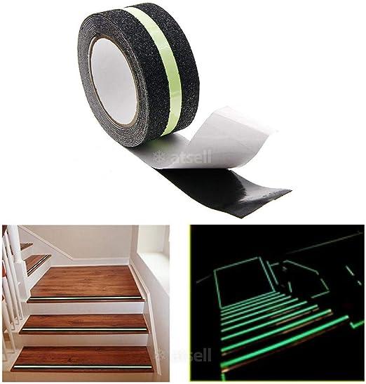 Rungao Luminoso Cinta Antideslizante Adhesiva Tira de Brillante Escalera Paso para el Suelo: Amazon.es: Hogar