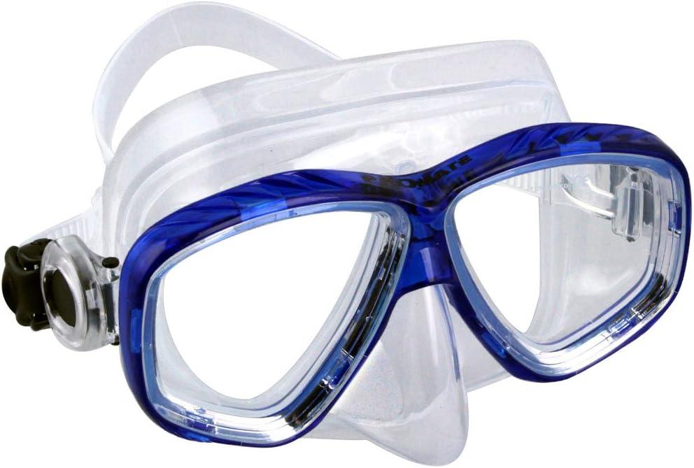 Promate RX Masque de plongée avec Tuba avec lentille correctrice Optique de proximité 1.0 à 10.0