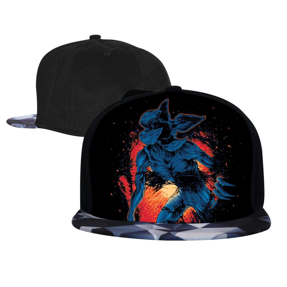 BEKAI Unisex S-tranger Thing-s Dark Demogor-Gon Adjustable Brimbill Flats Hat for Mens//Womens Hip Hop Caps