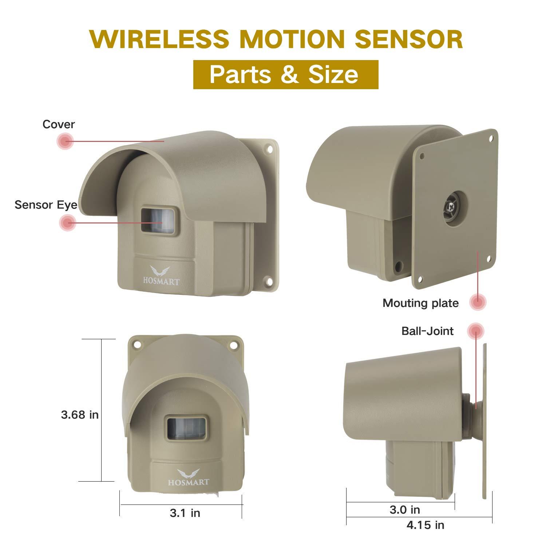Amazon.com: Hosmart - Sistema de alarma recargable para ...