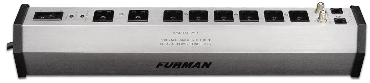 Furman PST-8 SMP EVS LiFT 15-Amp Aluminum Chassis 8-Outlet Cable and Telco Protection Advanced Level Power Conditioning by Furman
