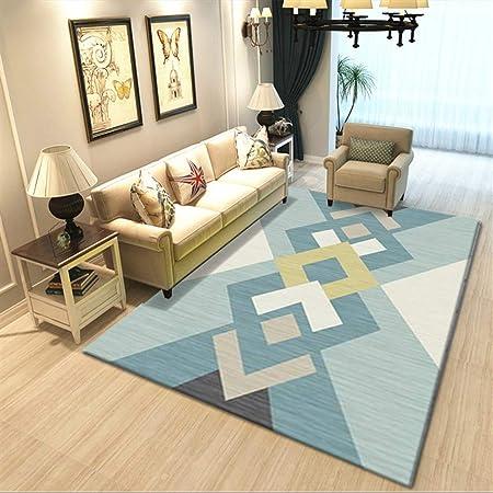 Liveinu Tappeto A Pelo Corto per Salotto Soggiorno Modern Design Tappeti per Salotto Arredamento Antiscivolo Lavabili Ornamenti 40x60cm DT006-28