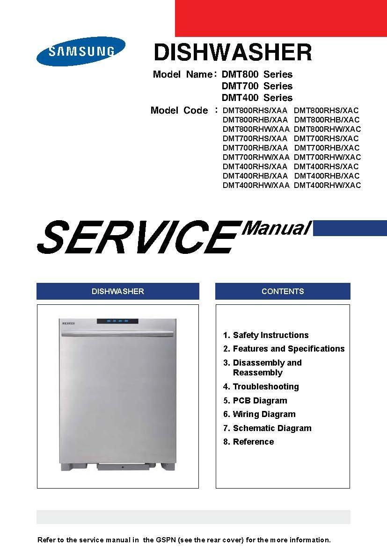 samsung dmt800rhs xaa and many more models service manual amazon rh amazon com