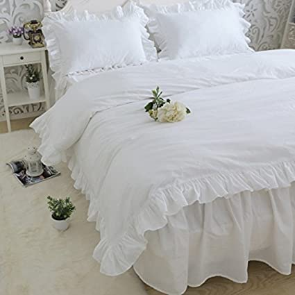 1000TC Egyptian Cotton Edge Ruffle DUVET COVER Sateen Choose Color
