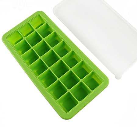 fukcup Soft Silicona Bebé Alimentos Congelador Ice Cube bandeja ...