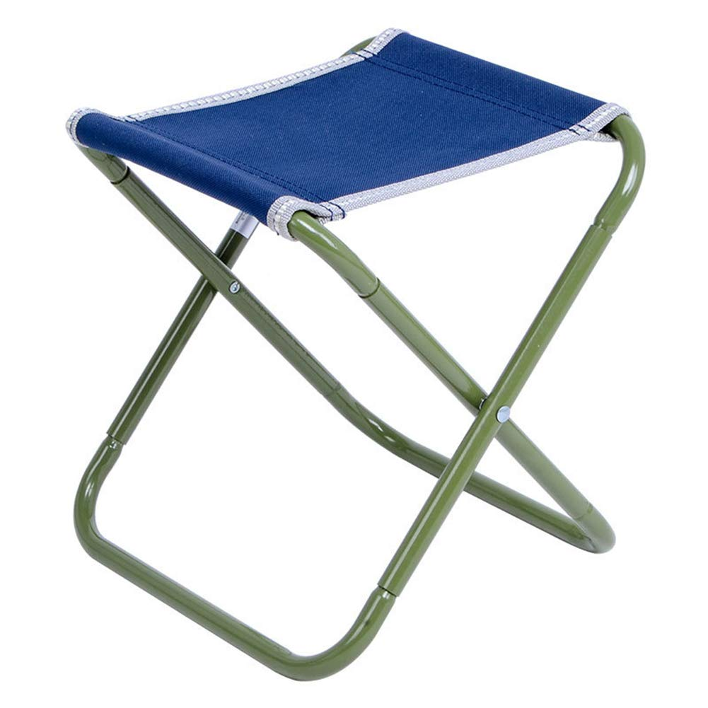 YANGYA Outdoor Folding Stool Chairs Portable Foldable Small Lightweight Camp Steel Pipe Stools Seat for Camping Fishing Picnic BBQ Travel and Hiking-F