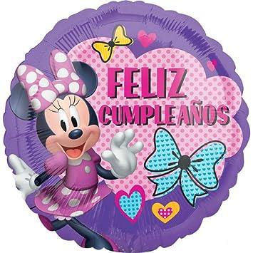 CAPRILO Lote de 4 Globos Infantiles Decorativos Foil Minnie ...