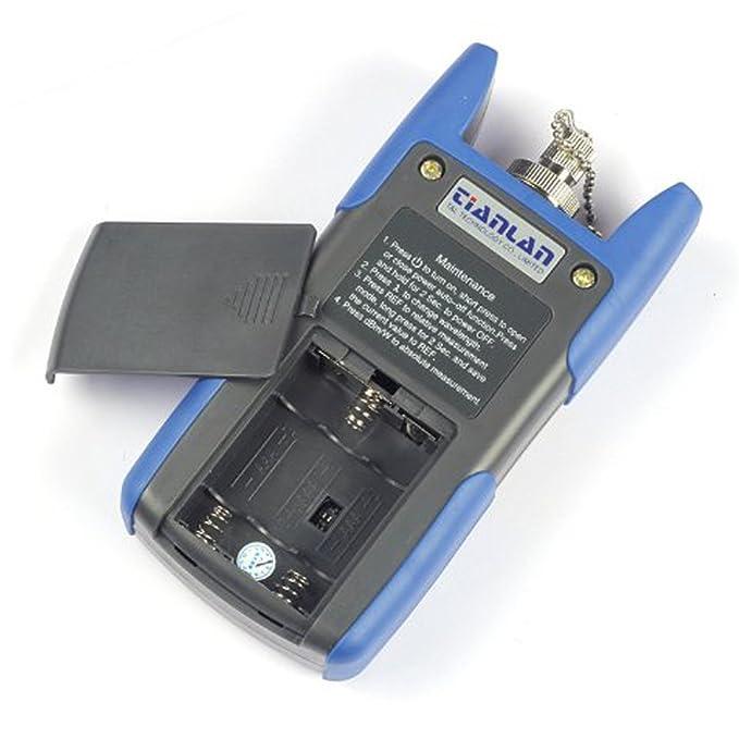 Tomo -50 a + 26dBm TL510 portátil óptico medidor de potencia con conector SC y FC comprobador de cable de, pilas incluidas: Amazon.es: Bricolaje y ...