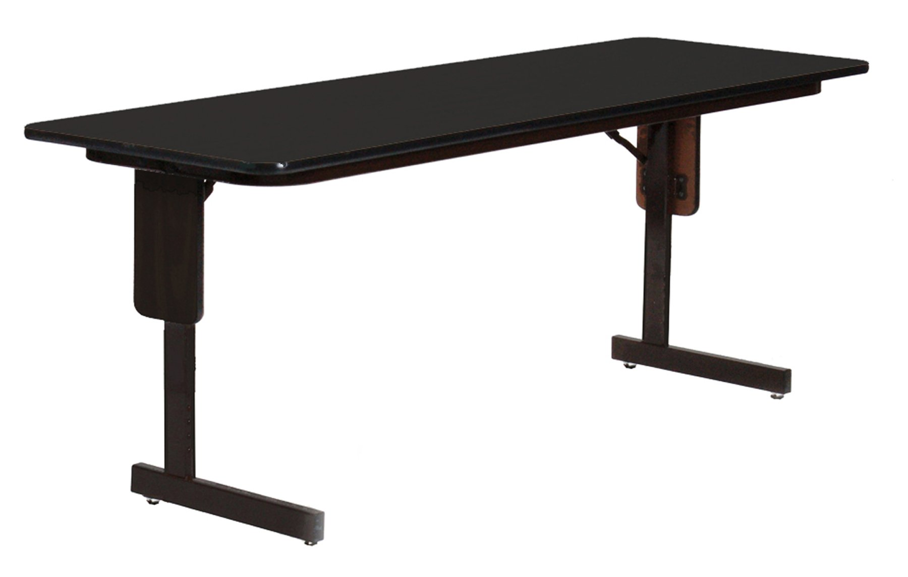 Correll SP2472PX-07 High Pressure Laminate Classroom, Training or Seminar Table with Folding Panel Leg  , Rectangular, 24''x72'' , Seats 3, Black Granite