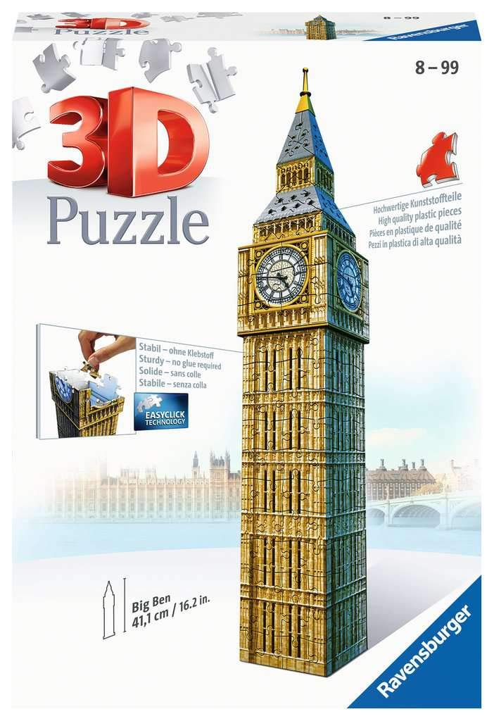 Ravensburger 12554 Big Ben 216 Piece 3D Jigsaw Puzzle for Kids Age 8 Years and up