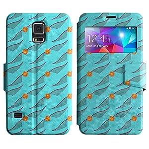 LEOCASE caja linda Funda Carcasa Cuero Tapa Case Para Samsung Galaxy S5 I9600 No.1006959