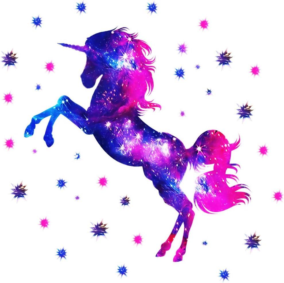 Pegatinas de pared de unicornio Pegatinas Infantiles Pared Pegatinas Pared Unicornio pegatinas decorativas infantiles pared las Ni/ñas Habitaci/ón de Ni/ño Wall Stickers Sal/ón Dormitorio