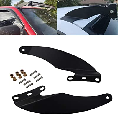 "52"" Curved LED Light Bar Upper Roof Windshield Mounting Brackets Fit 1994-2001 Dodge Ram 1500 2500 3500: Automotive"