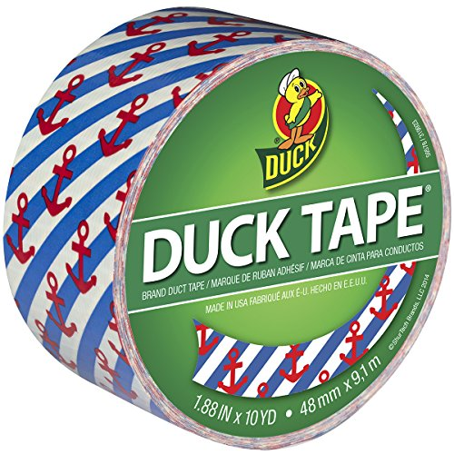 Duck Brand 283925 Printed Duct Tape, Hanker for an Anchor, 1.88 Inches (Anchor Patterns)