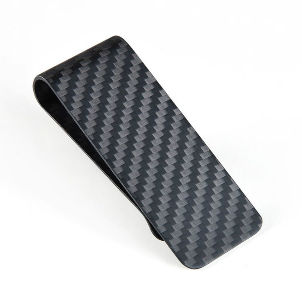 Lary Mens Carbon Fiber Money Clip Slim Money Clips Wallet Business Credit Card Holder