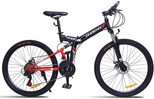 KOSGK Bicicleta MontañA Plegable Boy Bicycles para Path Trail ...