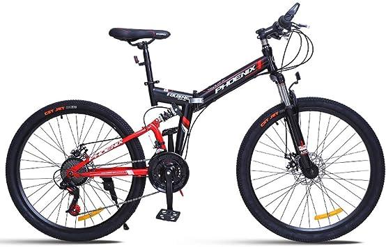 KOSGK Bicicleta MontañA Plegable Boy Bicycles para Path Trail ...