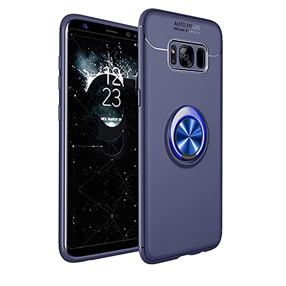 the latest 035c4 2e1f2 Galaxy S8 Plus Case, HONTECH Ultra Thin Soft Silicone 360 Rotating Magnetic  Car Mount Ring Holder Kickstand TPU Cover for Samsung Galaxy S8 Plus S8+ ...