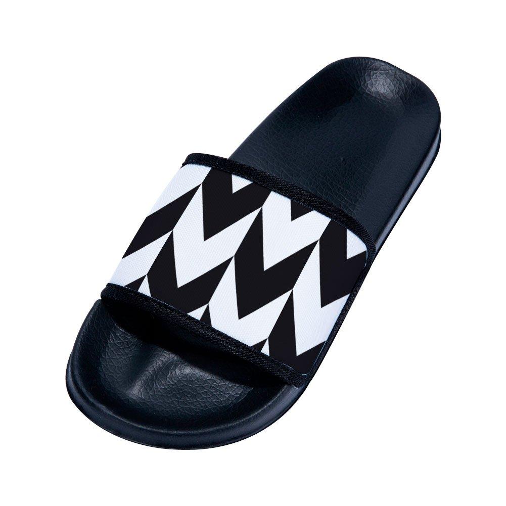 Buteri Black-White Splice Family Quick-Drying Non-Slip Slippers