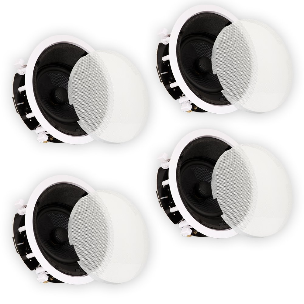 Theater Solutions TSS6A Home Theater Deluxe In Ceiling 6.5'' Angled 4 Speaker Set 4TSS6A by Theater Solutions