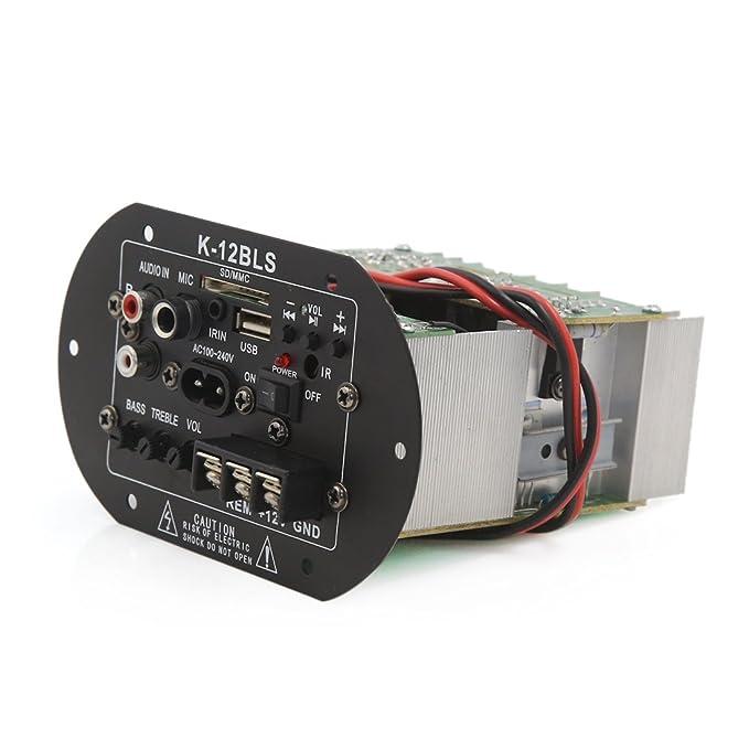 Amazon.com: Junta módulo amplificador eDealMax DC 12V Metal de Audio estéreo de alimentación Para automóvil del coche: Car Electronics