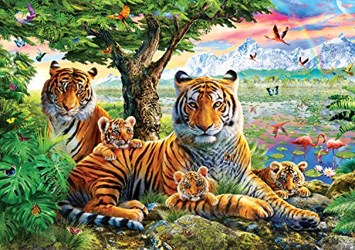 - Buffalo Games - Amazing Nature Collection - Hidden Tigers - 500 Piece Jigsaw Puzzle