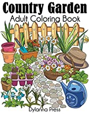 Country Garden Adult Coloring Book