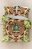 Sophia Art Exclusive Green Queen Size Buddha Meditation Hippie Bohemain Cotton Mandala Duvet Cover, Boho Mandala Duvet Cover With Pilow Cover (Green)